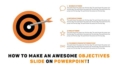powerpoint tutorial how to make an awesome objectives