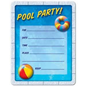 pool invitations free printable birthdaydirect