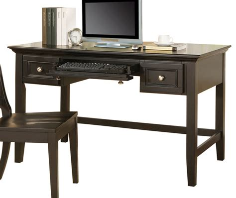 Black Writing Desk With Hutch by Steve Silver Oslo Writing Desk In Black Traditional