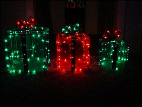 Three Lighted Gift Boxes Christmas Indoor  Outdoor 150