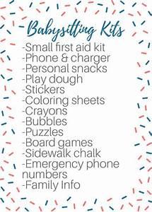 Babysitting Nanny Jobs Babysitting Tips Tricks Babysitting Checklist