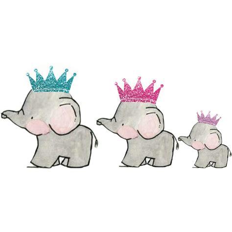 elephant family glitter crown