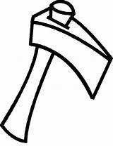 Axe Coloring Colouring Hatchet Clipart Ax Split Wood Webstockreview Bros sketch template