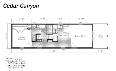 Bedroom Floor Ls by Cedar Canyou Ls Floor Plans Singlw Wides Single Section Homes