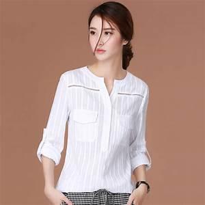 white shirt women blouses cotton ladies tops chemise femme With blouse carreaux femme