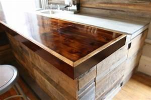 Reclaimed wood bar - Rustic - new york - by Jen Chu Design