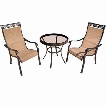 Monaco Glass Table Bistro Piece Hanover Chairs