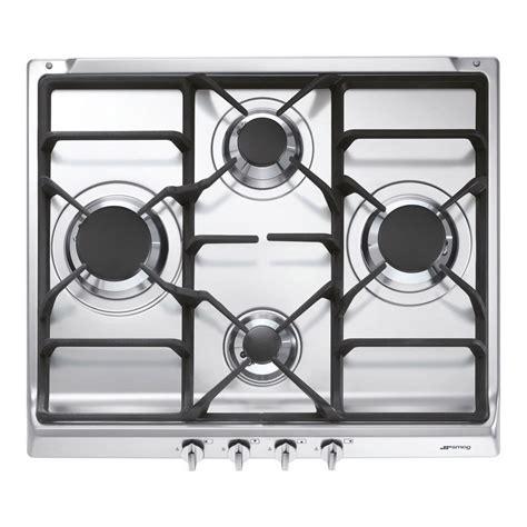 plaque de cuisine gaz plaque de cuisson gaz 4 foyers inox smeg s60ghs leroy