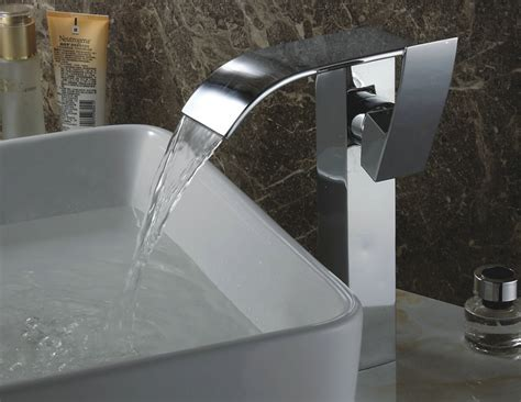 Contemporary Waterfall Bathroom Sink Tap (chrome Finish