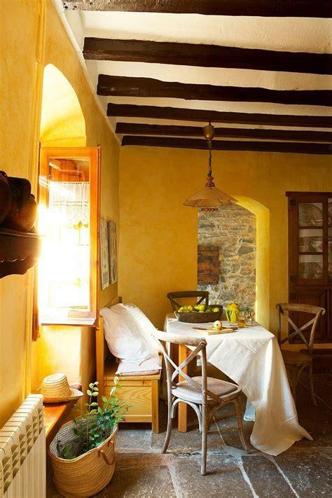 Yellow Breakfast Nook In A Spanish Farmhouse El Mueble