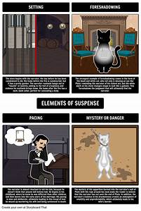 Elements Of Suspense In The Black Cat Storyboard