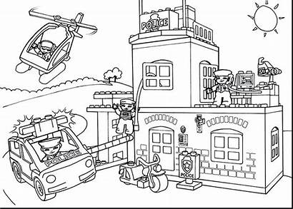 Office Coloring Pages Postal Preschool Sheets Building