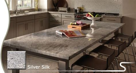 "Possible granite countertop? Sensa ""Silver Silk"" from"