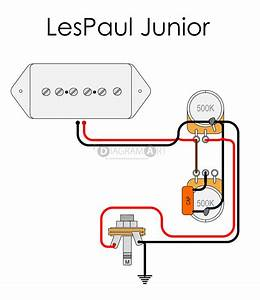 Electric Guitar Wiring  Lespaul Junior  Electric Circuit
