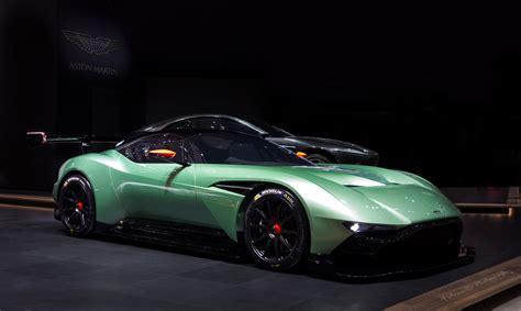 wallpaper aston martin vulcan coupe track  green