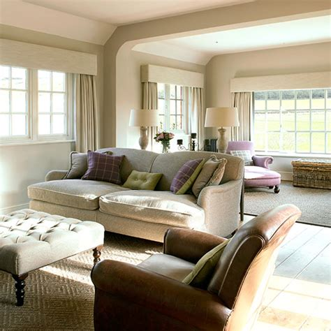 Cream And Leather Living Room  Ideal Home