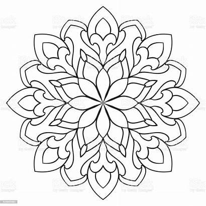 Mandala Simple Vector Ornamental Elements Abstract Clip