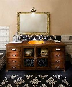 furniture reincarnation how to turn your old dresser With how to make a bathroom vanity from a dresser