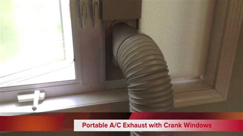portable air conditioner  crank casement windows diy exhaust mount youtube