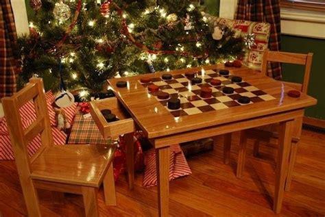handmade kids checker board table  chairs  larue