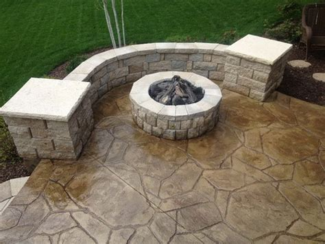 24 Amazing Stamped Concrete Patio Design Ideas. Village Lighting. Trophy Shelf. Fireplace Hearth Stone. Carved Wood Panel. Fiberglass Shower Base. Grooms Irrigation. Hollywood Swank Vanity. Overstuffed Chairs