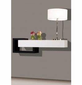 Console Entrée Design : 2443 console design laque blanc et noir brillants 1 ~ Premium-room.com Idées de Décoration