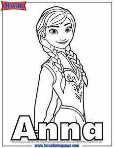 kid anna from frozen coloring pages
