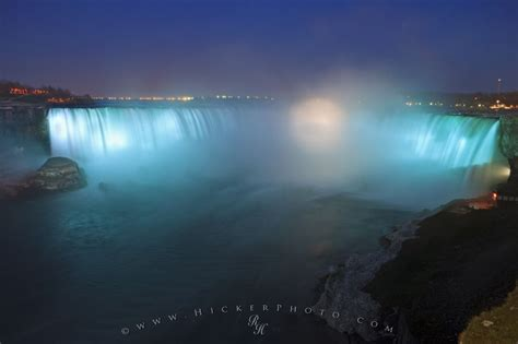 blue light display niagara falls ontario photo information