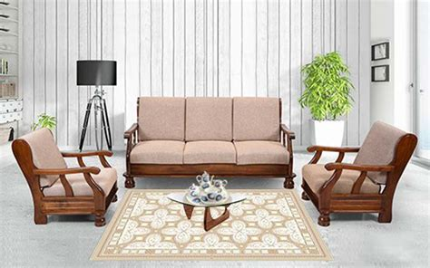 Sofa Sets With Price by Buy Royaloak Zita 3 1 1 Solidwood Sofa Set By Royaloak At