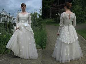 vintage wedding dress on ebay with sweet note goes viral With ebay wedding dresses used