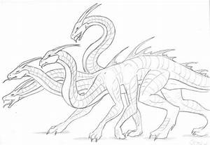 For Goddess-of-Time: Hydra by dragon-mystica on DeviantArt