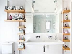 Etagere De Bain : optimiser une petite salle de bains 8 astuces indispensables ~ Teatrodelosmanantiales.com Idées de Décoration
