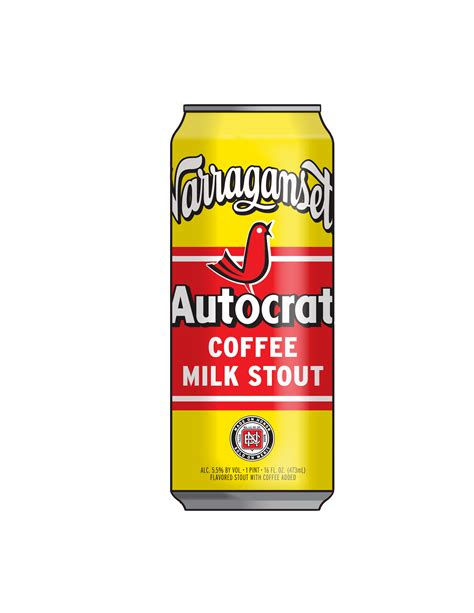 A custom blend of narragansett's bittersweet milk stout with dark, delicious autocrat coffee makes for a delightful beer that is more rhode island than roger williams. Autocrat Coffee Milk Stout - Commercial Distributing