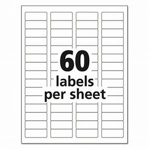 avery dennison 5155 easy peel return address label With avery labels 60 per sheet