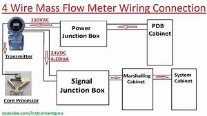 4 Wire Mass Flow Meter Wiring Connection Detail In Hindi