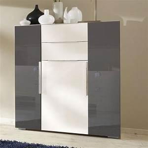 Kleiderschrank Grau Weiß : top schlafzimmer sideboard in hochglanz weiss grau kommode anrichte schrank ebay ~ Markanthonyermac.com Haus und Dekorationen