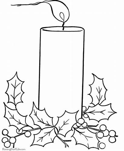 Coloring Christmas Candle Pages Advent Candles Drawing