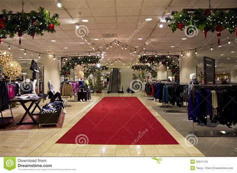 department store mall shopping christmas tree ligh editorial image image 35911145