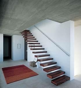 Handlauf In Wand : schwebende stufen kragarmtreppe mit handlauf in stahl geradl ufig treppenhaus in 2018 ~ Markanthonyermac.com Haus und Dekorationen