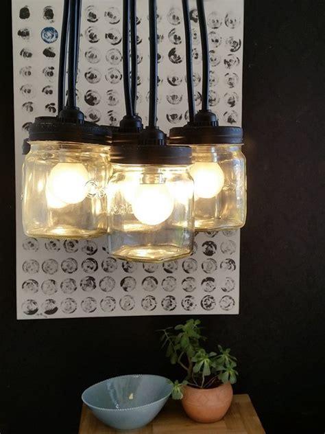 chandelier diy  consol mason glass jars hometalk