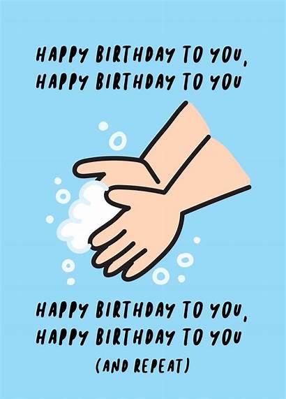 Birthday Happy Lockdown Cards Quarantine During Scribbler