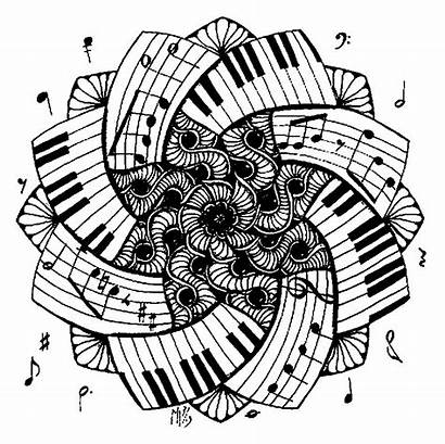 Coloring Piano Mandala Pages Musique Coloriage Therapy