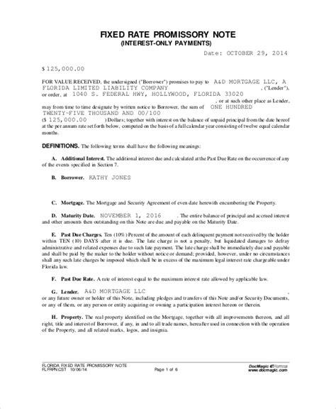 simple promissory note templates google docs ms