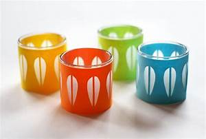 Diy cathrineholm candleholders how about orange for Kitchen colors with white cabinets with orange votive candle holders