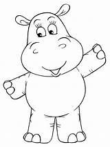 Hippopotamus Coloringhit Flusspferd Hippos Malvorlagen sketch template