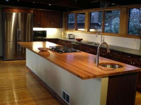 cuisine ultra design 68 idées pour un comptoir de cuisine en bois design