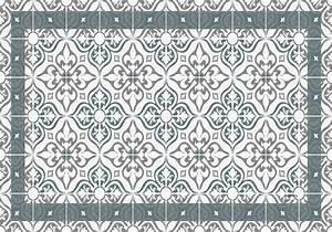 Set De Table Carreau De Ciment : set de table carreaux de ciment jos phine bleu gris ~ Teatrodelosmanantiales.com Idées de Décoration