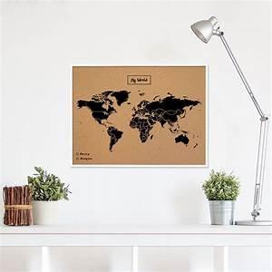 Mappemonde En Liege : carte du monde en liege avec cadre ~ Teatrodelosmanantiales.com Idées de Décoration