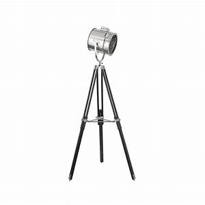 searchlight 3013 1 light modern stage lamp floor lamp With floor lamp tall chrome tripod lamp