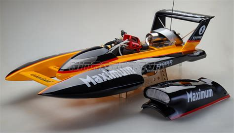 Rc Gas Boat Electric Start by Exceed Racing Fiberglass Maximum 26cc Gas Powered Artr